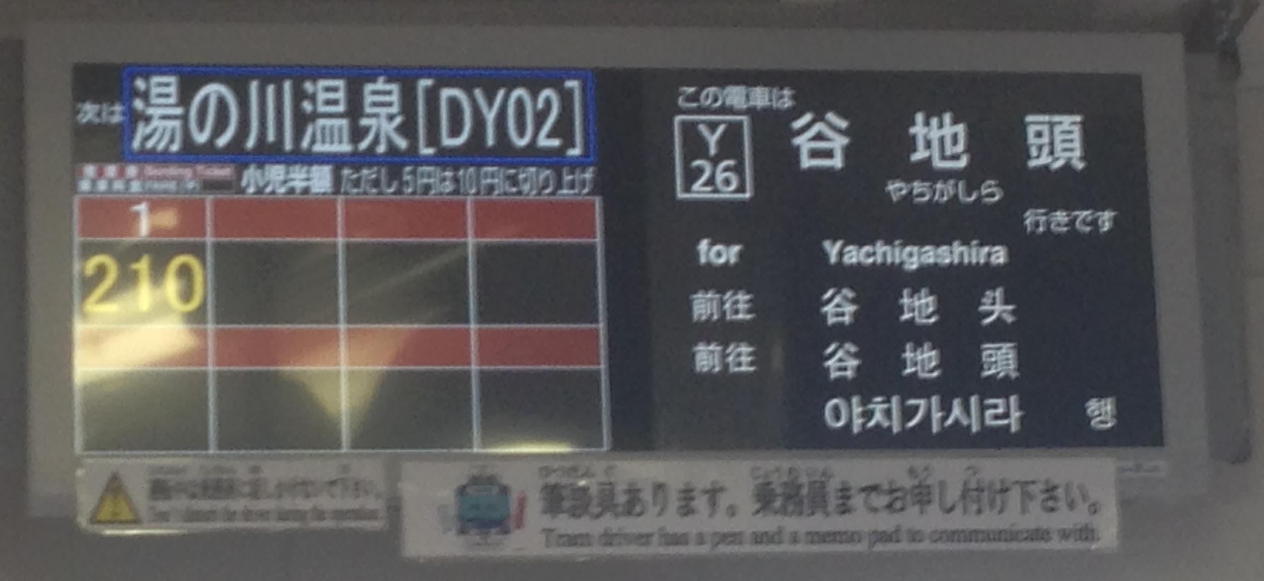 運賃表示器(液晶式)